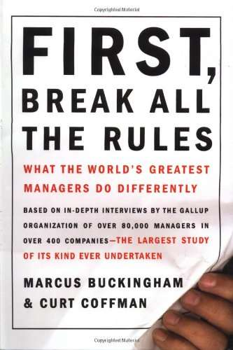 "Cover of ""First, Break All the Rules"""