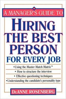 Cover of Hiring the Best Person for Every Job